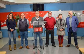 Julio García y diputados provinciales PSOE.