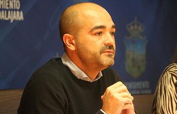 Israel Marco portavoz del  grupo Cs Guadalajara en el Ayuntamiento de Guadalajara.