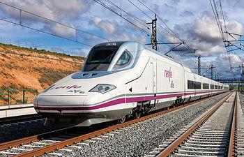 Tren AVE modelo S-112 que hizo el tramo inaugural de la Línea de Alta Velocidad Madrid-Cuenca-Albacete.