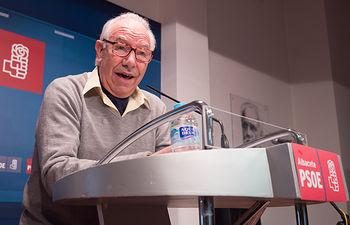 José Jerez, exalcalde de Albacete, en la presentación de la candidatura de Francisco Tierraseca a la Secretaría General de la Agrupación Local PSOE Albacete