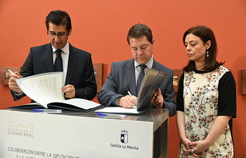 Emiliano García-Page realiza una visita institucional a la Diputación Provincial de Ciudad Real. Foto: JCCM.