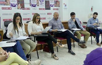 Reunión Unidas Podemos CLM - CCOO Almansa.