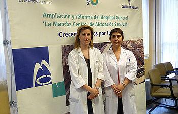 En la imagen las trabajadoras sociales del Hospital General La Mancha Centro, de Alcázar de San Juan