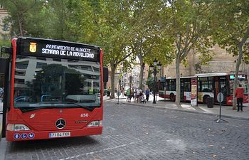 Autobús de Albacete.