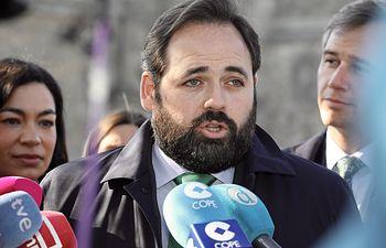 El presidente del PP-CLM, Paco Núñez, en Toledo, junto al vicesecretario de Política Territorial del Partido Popular, Antonio González Terol.
