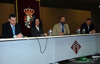 De izqda a dcha: José Antonio Gámez, Carlota Romero, Julián Garde y José Miguel Puerta
