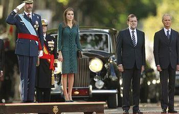El presidente del Gobierno asiste a la celebración del Día de la Fiesta Nacional. Foto: EFE.