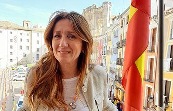 Cristina Fuentes, portavoz del Grupo Municipal naranja en el Ayuntamiento de Cuenca.