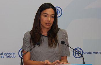 Claudia Alonso, portavoz del Grupo Municipal Popular en el Ayuntamiento de Toledo.