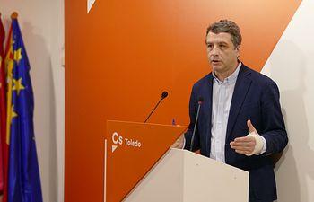 Esteban Paños, portavoz de Cs en el Ayuntamiento de Toledo.