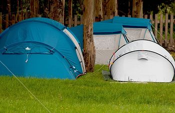 Camping. Imagen de archivo.