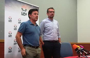 Julián Morcillo, secretario general de UPA Castilla-La Mancha,  y Alejandro García-Gasco Alcalde, responsable de Vino de la Unión de Pequeños Agricultores y Ganaderos.