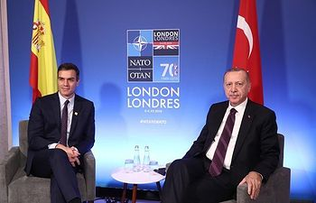 El presidente del Gobierno en funciones, Pedro Sánchez, se ha reunido con el primer ministro de Turquía, Recep Tayip Erdogan.