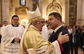 Emiliano García-Page y Ángel Fernández Collado - Obispo de Albacete.