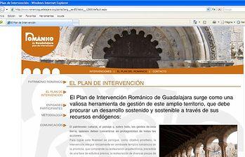 Detalle de la página web www.romanicoguadalajara.org, que ya pueden consultar los ciudadanos para conocer de cerca el Plan del Románico de la provincia de Guadalajara, que está llevando a cabo el Gobierno de Castilla-La Mancha en colaboración con la Diócesis de Sigüenza-Guadalajara, Ibercaja y la Fundación Santa María La Real.