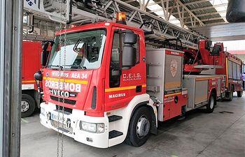 Vehículo de bomberos.