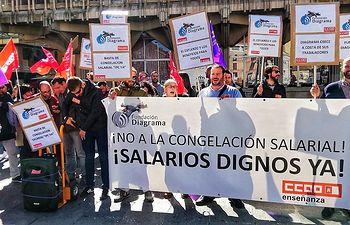 Trabajadores del centro de menores 'La Cañada' se concentran exigiendo a empresa la negociación del convenio colectivo