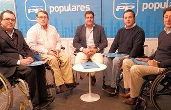 Francisco Vañó en una reunión sobre políticas de discapacidad. Fuente:PP