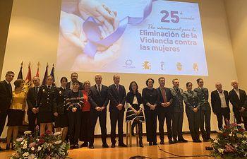 Acto institucional que con motivo del Día Internacional de la Eliminación de la Violencia contra la Mujer se ha celebrado en Guadalajara.