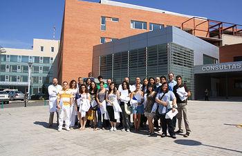 En la imagen los alumnos de Segundo Ciclo que realizarán prácticas durante el verano en el Hospital General 'La Mancha Centro', de Alcázar de San Juan (Ciudad Real).