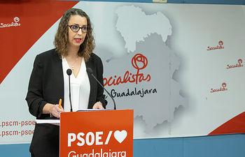 Sara Simón, portavoz del Grupo Socialista en el Ayuntamiento de Guadalajara y segunda teniente de alcalde.