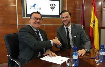 ADECA rubrica un convenio de colaboración con el Albacete Balompié