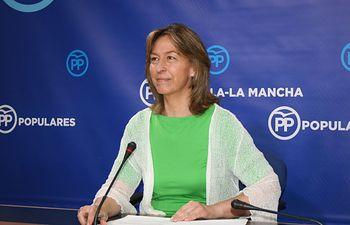 Guarinos en rueda de prensa en las Cortes de Castilla-La Mancha