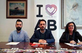 José Antonio Peñaranda, Fran Casamayor y Victoria Delicado.