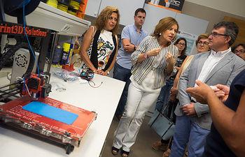 Visita de Aurelia Sánchez a Print3D Solutions