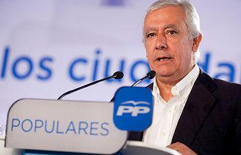 El vicesecretario de Política Autonómica y Local del PP, Javier Arenas