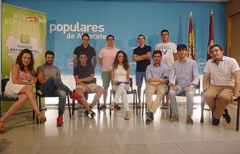 Comité ejecutivo de NNGG Albacete.