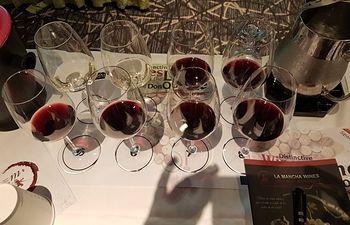 Imagen de los vinos DO La Mancha en Chicago.