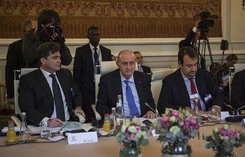 Fernández Díaz en la reunión del G6. Foto: Ministerio del Interior.