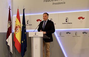 Rueda de prensa de Francisco Cañizares en el Palacio de Fuensalida.