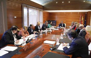 Reunión de la junta de portavoces. Foto: CARMEN TOLDOS