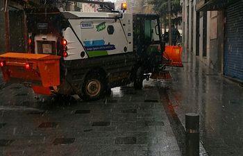 Activo el dispositivo municipal de emergencias ante la nevada que cae sobre Guadalajara