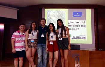 Equipo ganador del IES San Isidro.