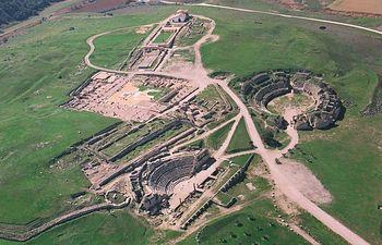 El parque arqueológico de Segóbriga, en la imagen, fue el primero en abrirse al público en 2002.