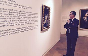 Marín visita exposición Cajasol Museo Guadalajara 1. Foto: JCCM.