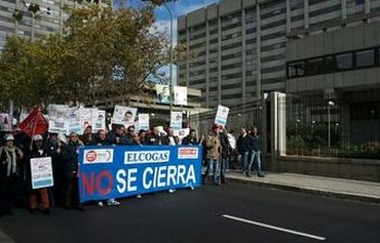 Manifestacion en Madrid frente al Ministerio de Industria