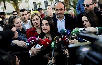Inés Arrimadas, portavoz nacional de Ciudadanos, en Ciudad Real.