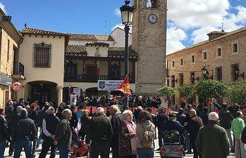 Concluyen los actos del 1º de mayo de Mota del Cuervo con el acto central en la plaza mayor de la localidad con unas 350 personas en una concentración histórica.