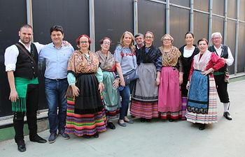 XXVII Festival Local de Folklore celebrado en la Caseta de 'Los Jardinillos' con motivo de la festividad de San Juan Bautista, patrón de Albacete