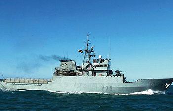 """Buque patrullero de la Armada Española """"Vigía. Agencias."""