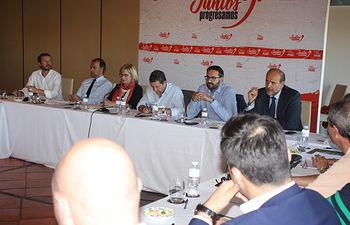 Reunión de la Comisión Ejecutiva Regional del PSOE celebrada en Toledo.