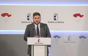 El portavoz del Gobierno regional, Nacho Hernando, rueda de prensa, 11 de septiembre de 2018.-