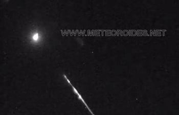 Complejo Astronómico de La Hita detecta una bola de fuego generada por el impacto de una roca contra la atmósfera.