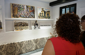 """Inauguración de la exposición """"Albacete, su Feria y otras cosas"""" del autor Pedro Romero Sequí en el restaurante Los Molinos de Albacete. Foto: Manuel Lozano García / La Cerca"""