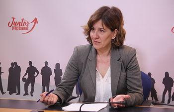 Blanca Fernández en rueda de prensa.