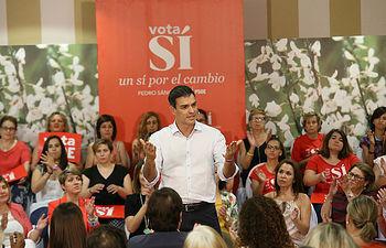 Pedro Sánchez en acto de igualdad en Cáceres 220616